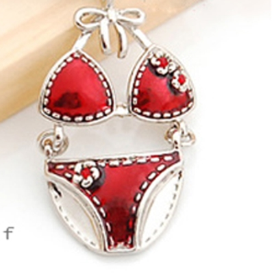 Aimee Toff 時尚花朵比基尼可愛手機吊飾(紅)