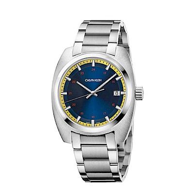 CALVIN KLEIN Achieve 系列 成就系列藍黃面盤手錶