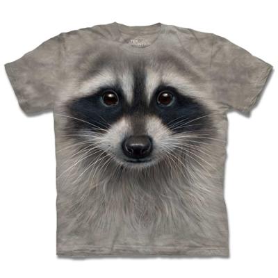 摩達客 美國進口The Mountain浣熊臉 純棉短袖T恤