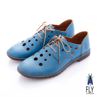 Fly London(女) 小宇宙 隕石洞洞牛津皮鞋 - 水星藍