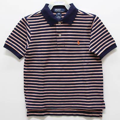 Ralph Lauren 男童經典條紋短袖POLO衫-深藍色(4歲)