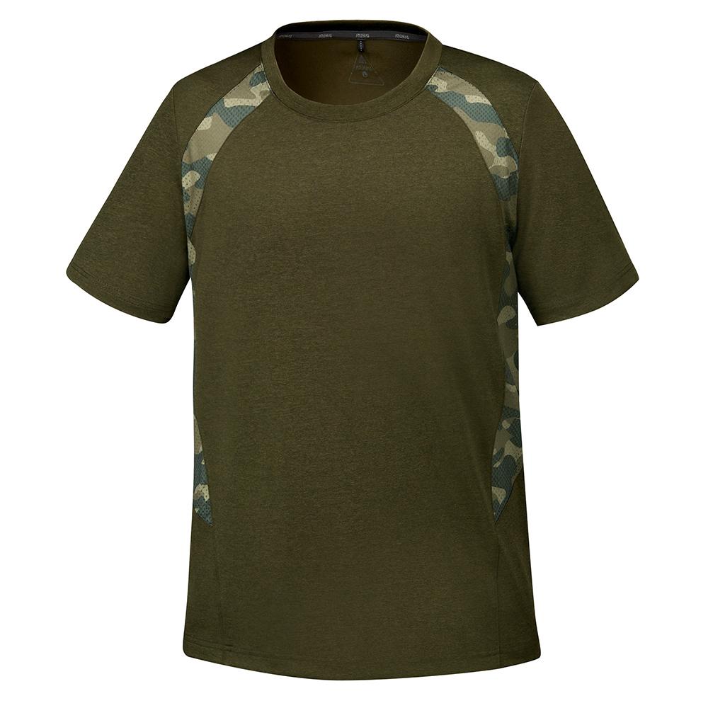 【ATUNAS 歐都納】男款持續涼感防曬吸濕排汗快乾休閒短袖T恤A-T1702M綠