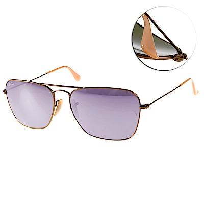RAY BAN太陽眼鏡 經典品牌/銅-水銀紫#RB3136 1674K