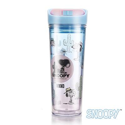 SNOOPY史努比 史努比清漾雙層隔熱隨手杯 400 ml