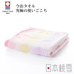 日本桃雪今治彩虹毛巾(花火粉)