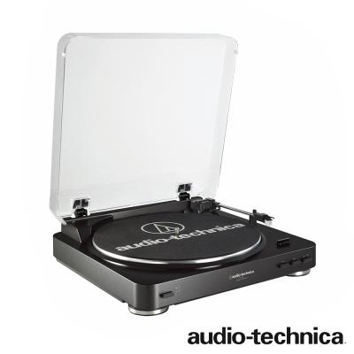 鐵三角 AT-LP60 全自動立體聲黑膠唱盤機(黑色)