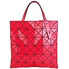 ISSEY MIYAKE 三宅一生BAOBAO 雙色軟質方格6x6手提包(紅/桃紅)