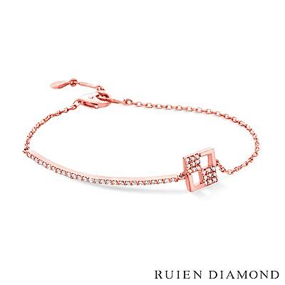 RUIEN DIAMOND 韓國輕珠寶 飾品 配件14K玫瑰金 手鍊 LB149