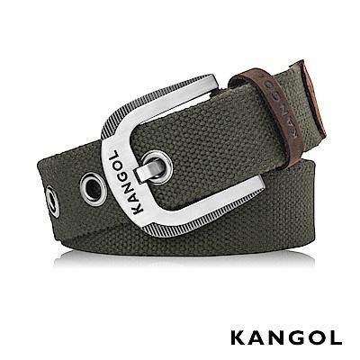 KANGOL EVOLUTION系列 英式潮流休閒針釦式皮帶- 軍綠色 KG1181