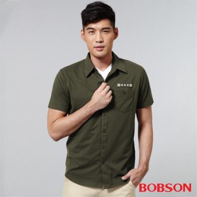 BOBSON  男款襯衫式針織上衣