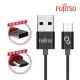 FUJITSU富士通MICRO USB雙面插金屬編織傳輸充電線
