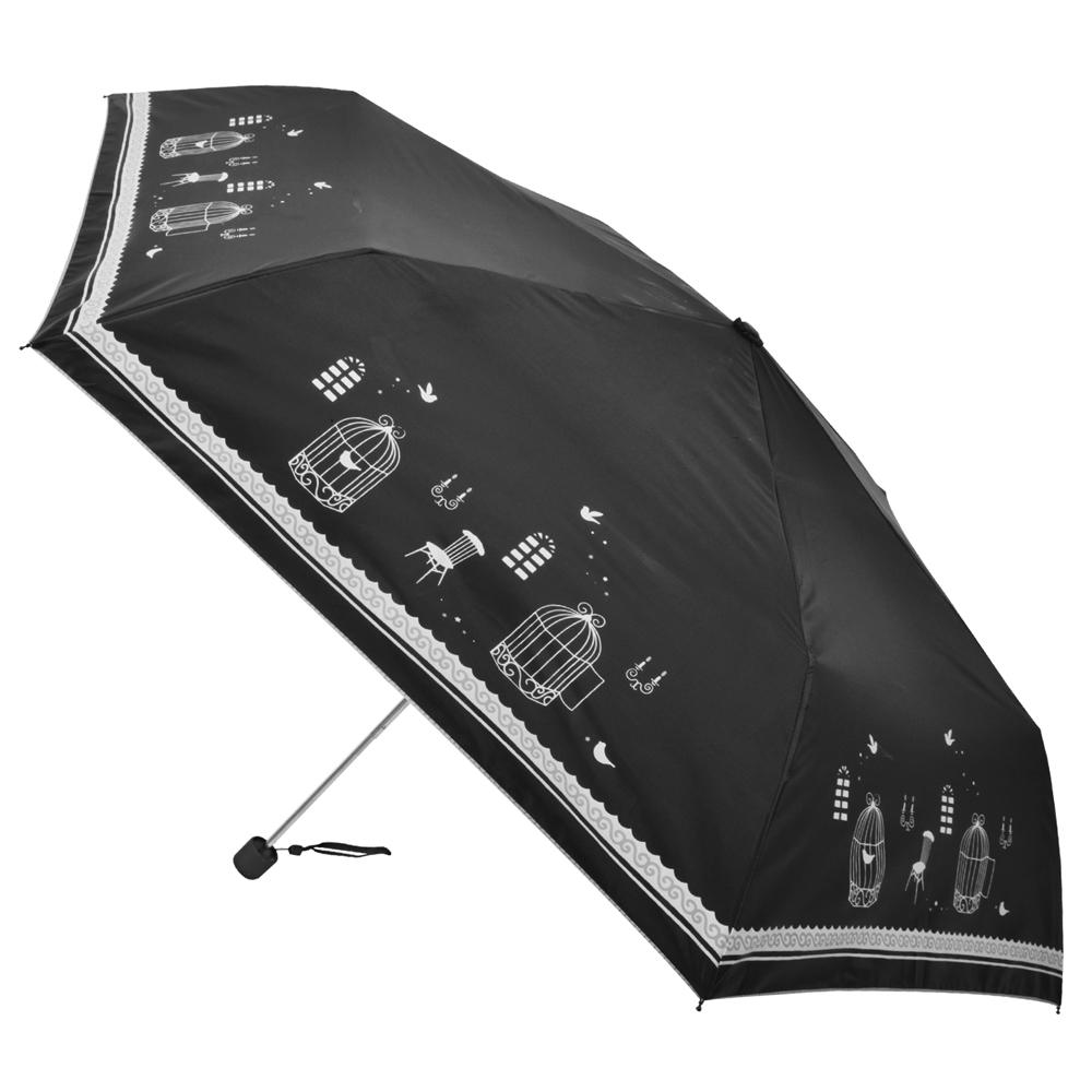 2mm 銀膠抗UV 鳥籠物語超細鉛筆傘 (黑色)