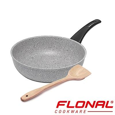 義大利Flonal 新石器系列不沾導磁炒鍋28cm+木鏟