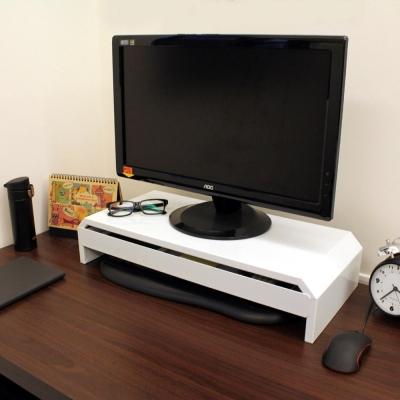 頂堅鐵板製桌上型-抽屜-螢幕架置物架二色可選