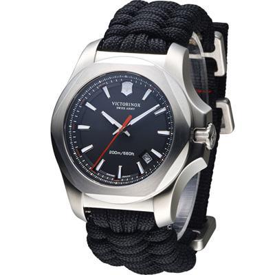 Victorinox 維氏 INOX 軍事標準專業套腕錶-黑/43mm
