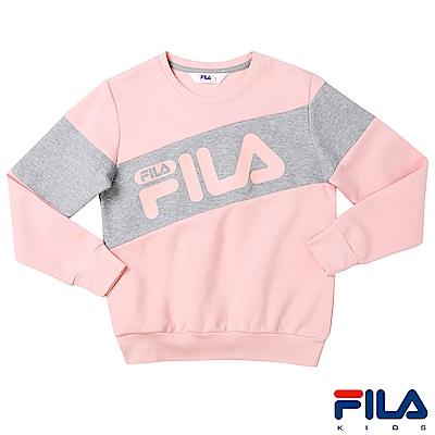 FILA KIDS #東京企劃 長袖圓領T恤-粉紅1TES-4450-PK