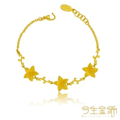 今生金飾 戀戀聖誕手鍊 純黃金手鍊