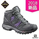 Salomon 登山鞋 中筒 GORETEX 防水 女 SHINDO 灰紫