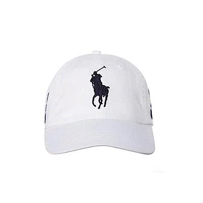 Polo Rlaph Lauren 經典刺繡大馬可調式鴨舌帽-白色