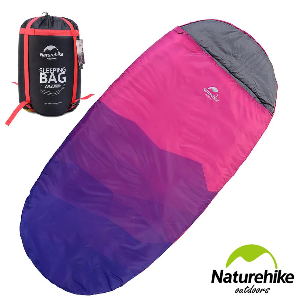 Naturehike 抗寒保暖 加大加厚亮彩圓餅單人睡袋 霞紫色-急