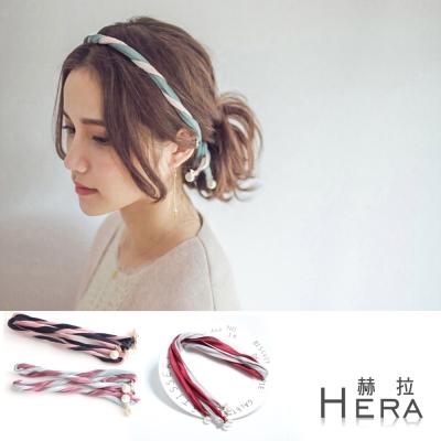 Hera  雙色百變組合麻花珍珠頭帶/髮帶(三色)
