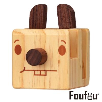 Foufou 木質眼鏡架/手機架-哈貝二齒