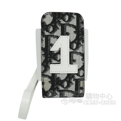 Dior 經典pvc花紋造型彈性手機套_黑色
