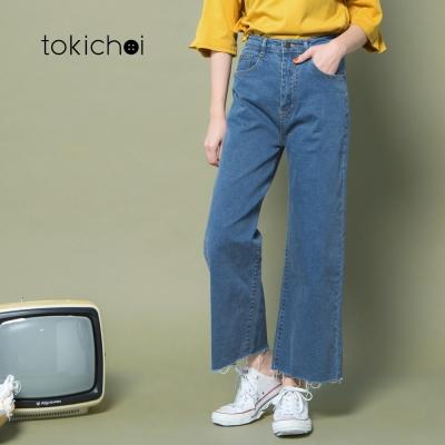 東京著衣 復古寬版牛仔長褲-S.M.L(共一色)