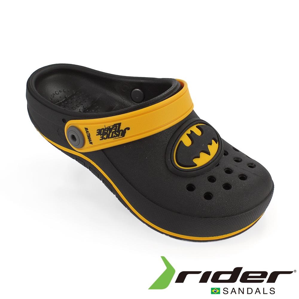 RIDER 巴西-童 正義聯盟 運動洞孔鞋 黑色/黃色