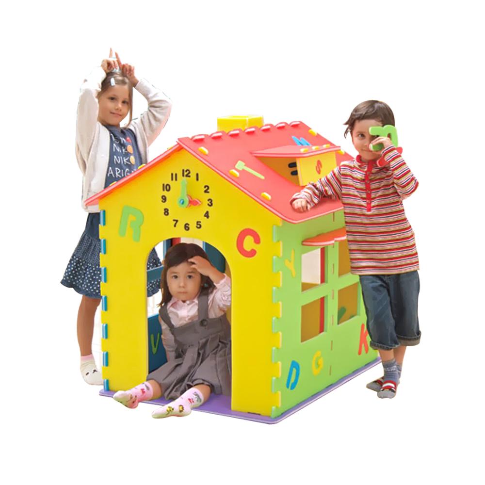 【car-boy 日本】ABC 快樂學習組合屋-組合及顏色辨識思考力