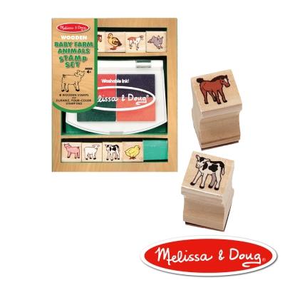 美國瑪莉莎 Melissa & Doug 木製印章組 - 農場動物