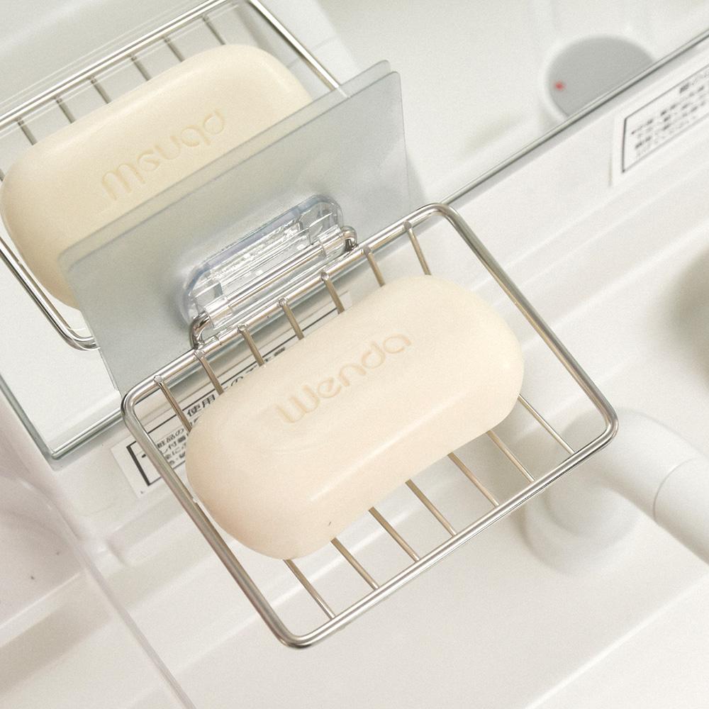 完美主義 不鏽鋼肥皂架/菜瓜布架/微透貼面-8.5x10