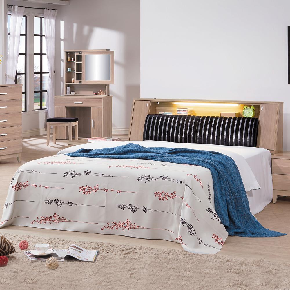ROSA羅莎 愛勒貝拉6尺雙人加大床組(6尺床頭箱+6分山毛櫸色床底)