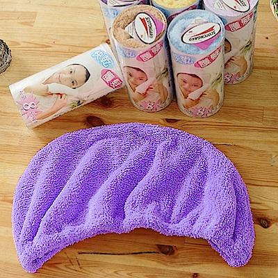 米夢家居-台灣製造水乾乾SUMEASY開纖吸水紗-快乾護髮浴帽(紫)3件