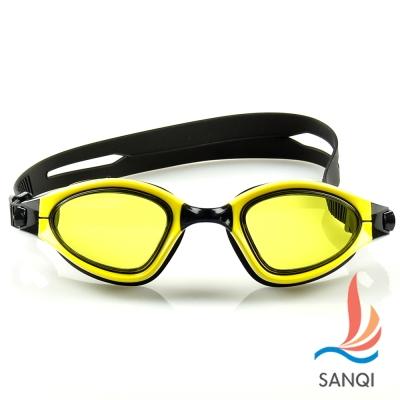 SANQI三奇 夏日必備抗UV防霧休閒泳鏡(9015-黃F)