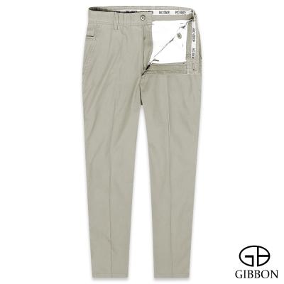 GIBBON 有機棉質親膚平口休閒褲‧卡其31-42