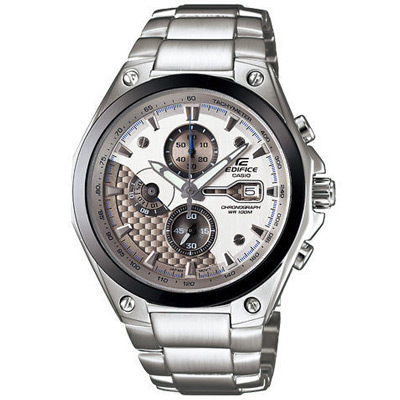 EDIFICE 多層次競速先鋒計時運動錶(銀白)-43mm