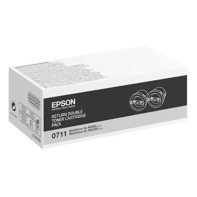 EPSON C13S050711 原廠優惠黑色碳粉匣 (雙包裝)