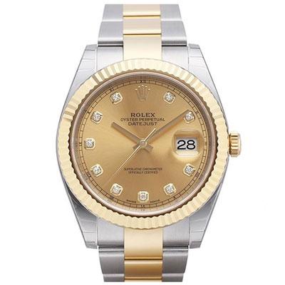 ROLEX 勞力士 126333 蠔式 Datejust 金色鑽面腕錶-41mm