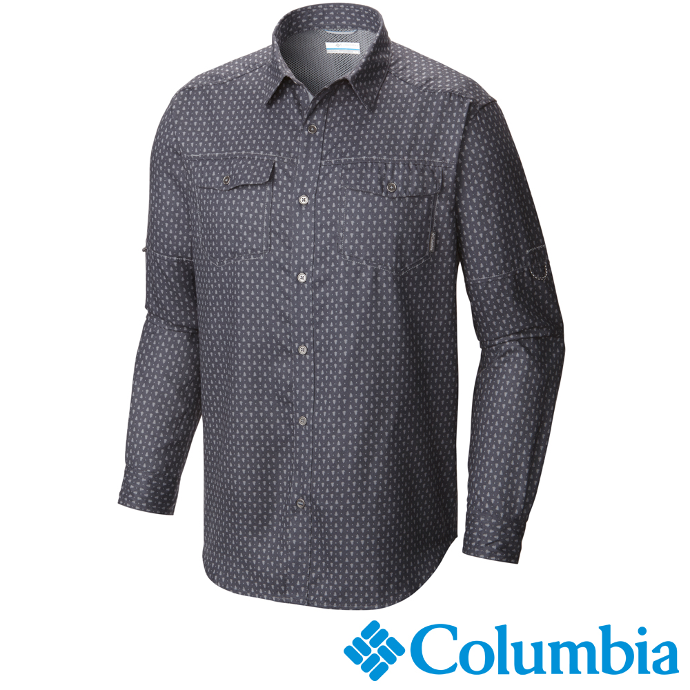 【Columbia哥倫比亞】男-快排長袖襯衫-灰色 UAO11800GR