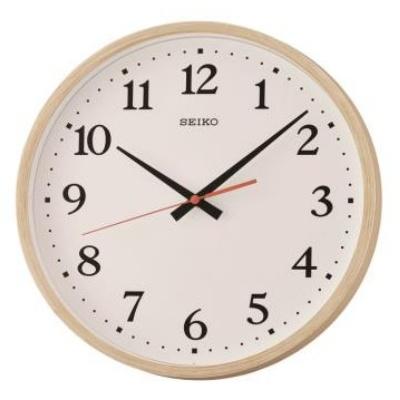 SEIKO 精工 滑動式秒針 靜音掛鍾 時鐘(QXA661A)-白/30cm