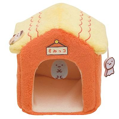 角落掌心沙包公仔的小家具。小屋子。橘San-X