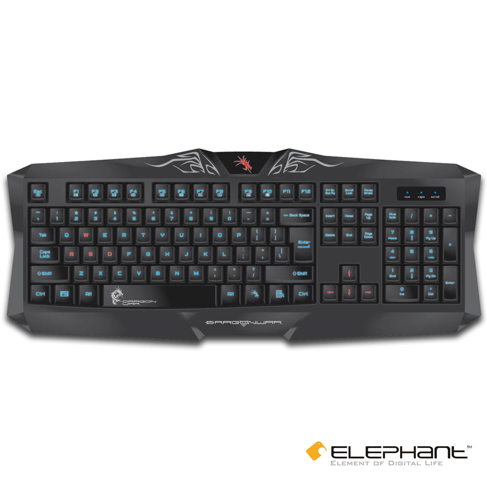 ELEPHANT 龍戰系列 西爾維奧-多媒體電競發光鍵盤