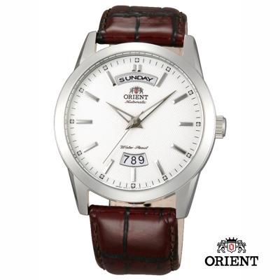 ORIENT 東方錶 WILD CALENDAR系列 寬幅日曆機械錶-金色/40mm