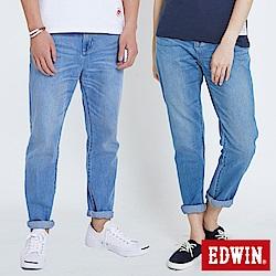EDWIN 503九分隨性AB褲-中性-漂淺藍