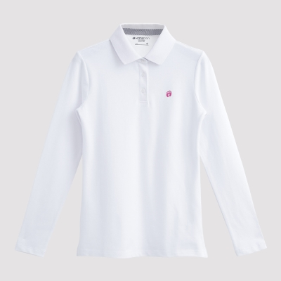 Hang Ten - 女裝 - 經典美式純色POLO衫 - 白