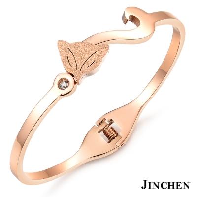 JINCHEN 白鋼狐狸手環 玫瑰金