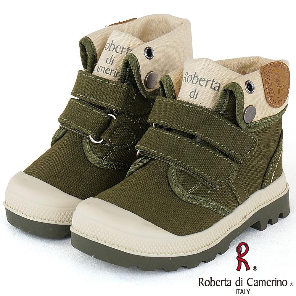 Roberta諾貝達 歐美小型男必備軍靴童鞋-綠(中大童)