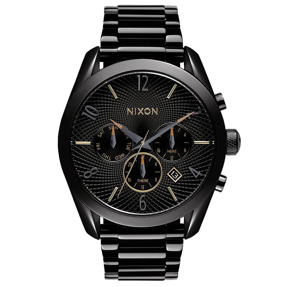 NIXON THE BULLET CHRONO先鋒計時網紋腕錶-黑43mm