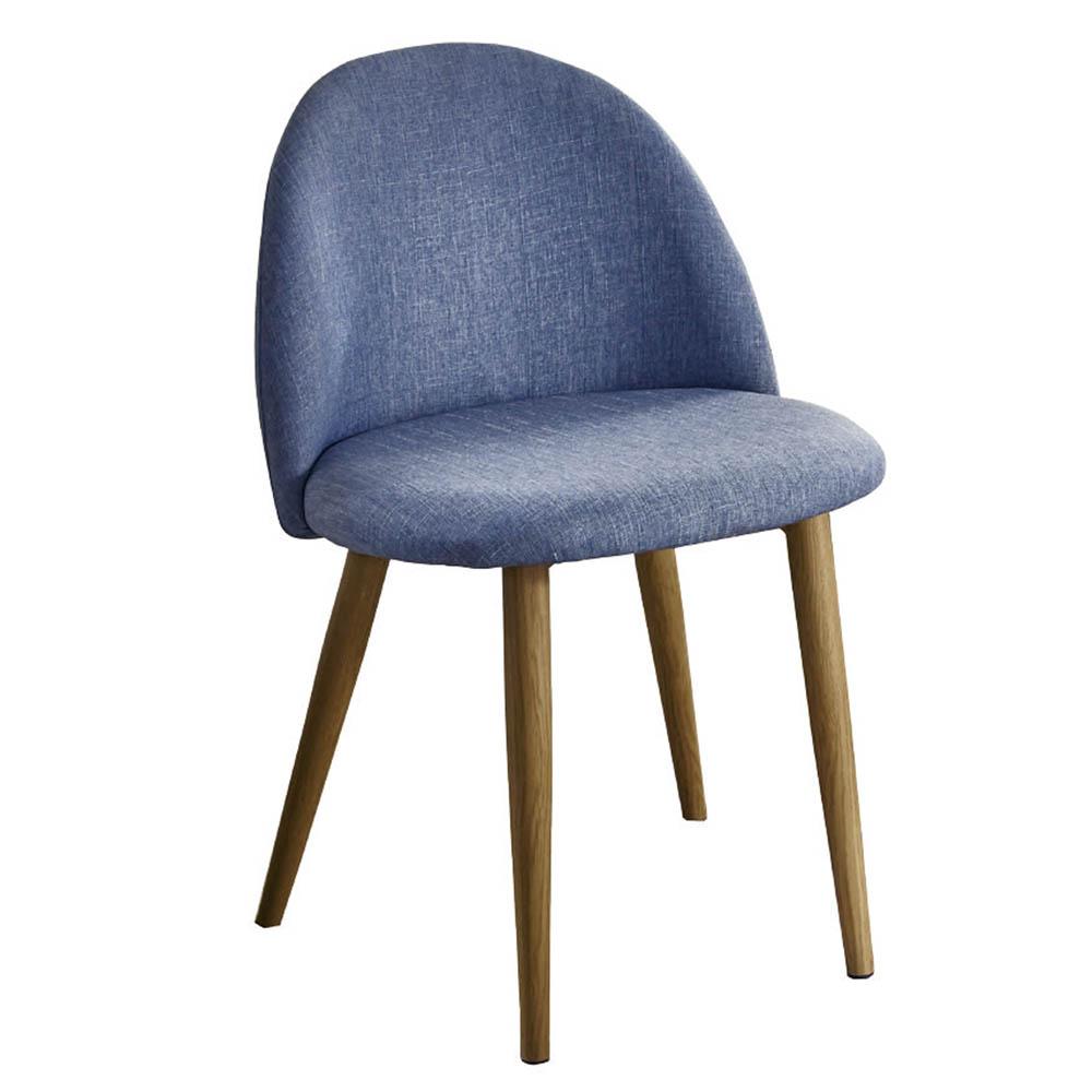 AT HOME 喬絲麻紗藍布鐵藝餐椅